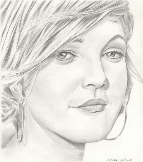 Drew Barrymore Drawings Drew Barrymore by Daisie
